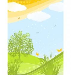 Spring background portrait vector