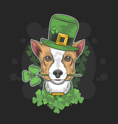 St patricks dog day vector