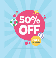 summer sale concept party night vector image