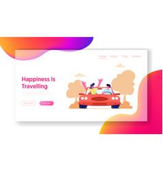 summer vacation trip journey website landing vector image