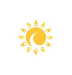 swirl sun vector image