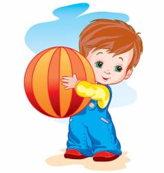 The child with a ball vector