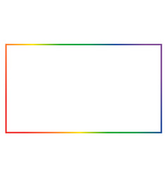 Thin color empty frame isolated on white vector