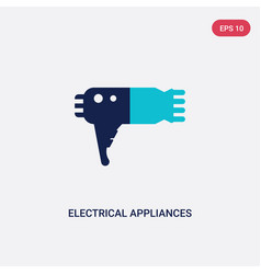 two color electrical appliances icon from fashion vector image