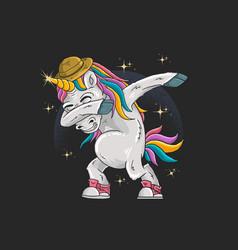 unicorns are dabbing in full color vector image