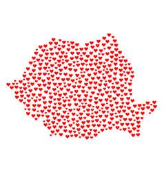 Valentine collage map of romania vector