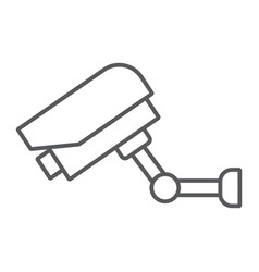 video surveillance thin line icon electronic vector image