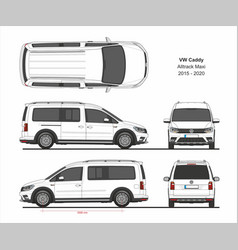 vw caddy alltrack maxi van 2015-present vector image