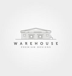 warehouse building line art icon logo symbol vector image