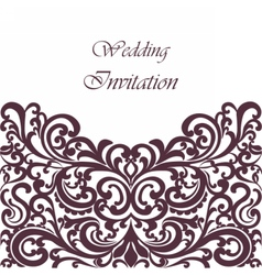 Wedding invitation card with lace lily flower vector image wedding invitation card with lace ornament vector image stopboris Images