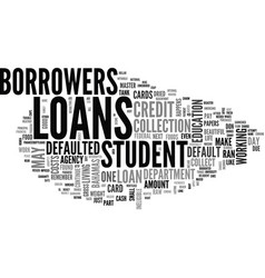 What happens when you default on student loans vector
