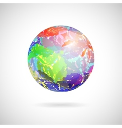 abstract ball of colored spots vector image