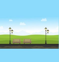 background game for garden with chair and lamp vector image vector image