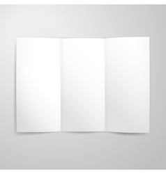 Blank tri fold paper mockup vector
