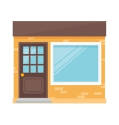 Building isolated vector image vector image