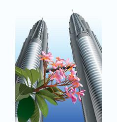 Petronas twin towers vector