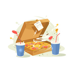 pizza fast food vector image vector image
