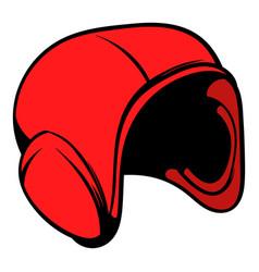 red helmet icon icon cartoon vector image vector image