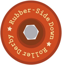 Rubber-Side Down vector image vector image