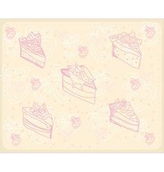 sweet dessert background vector image