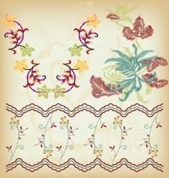 vintage border vector image vector image
