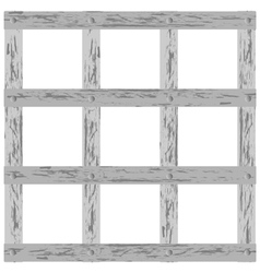 wooden lattice vector image
