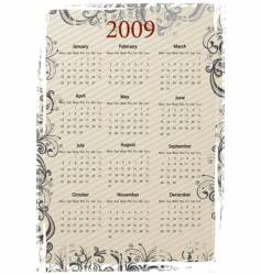 European grungy calendar vector image vector image