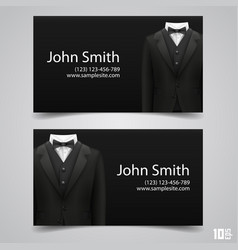 jacket business card vector image vector image