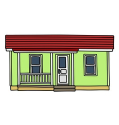 Light green low house vector image vector image