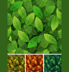 seamless spring and seasons leaves vector image