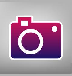 digital camera sign purple gradient icon vector image vector image