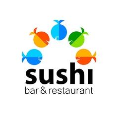 sushi bar restaurant vector image