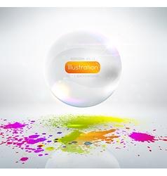 White Bubble Ornament vector image vector image