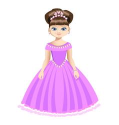 beautiful princess in jewelry vector image vector image