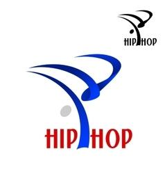 Hip hop dancer sporting emblem vector image vector image