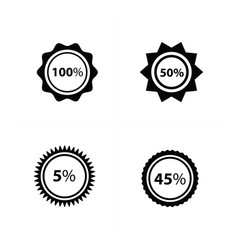 price tags label set 4 style vector image vector image