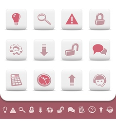 Professional web icons buttons vector image vector image