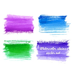 set of abstract watercolor background with paper t vector image vector image