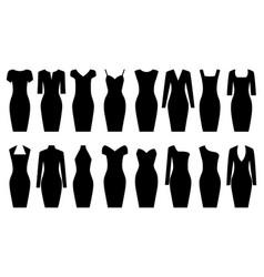 set of black dresses vector image vector image