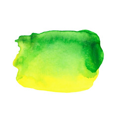 Abstract watercolor bright green and yellow vector