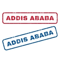Addis Ababa Rubber Stamps vector