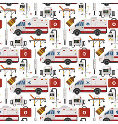 ambulance medicine health emergency vector image