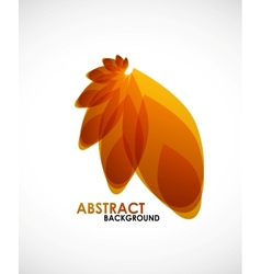 Autumn leaves nature concept vector image