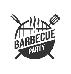 barbecue and grill label bbq emblem and badge vector image