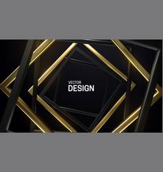 black and golden square frames vector image