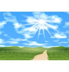 Blue sky ahead vector