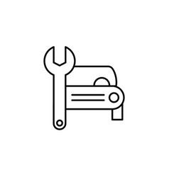 Car wrench repair icon can be used for web logo vector