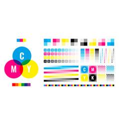 Cmyk bars printing house press registration vector