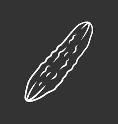 cucumber chalk icon vector image