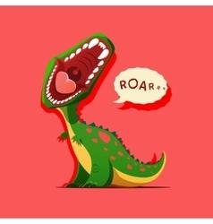 dinosaur is roaring vector image